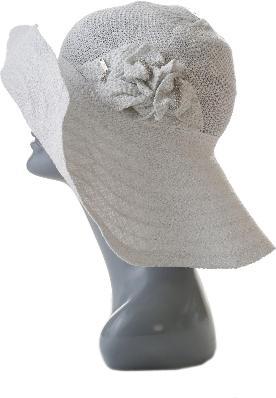 Летняя шляпа женская с камнями Сваровски