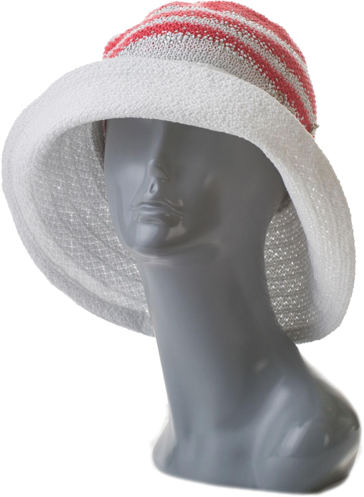 Шляпа летняя трикотажная с камнями