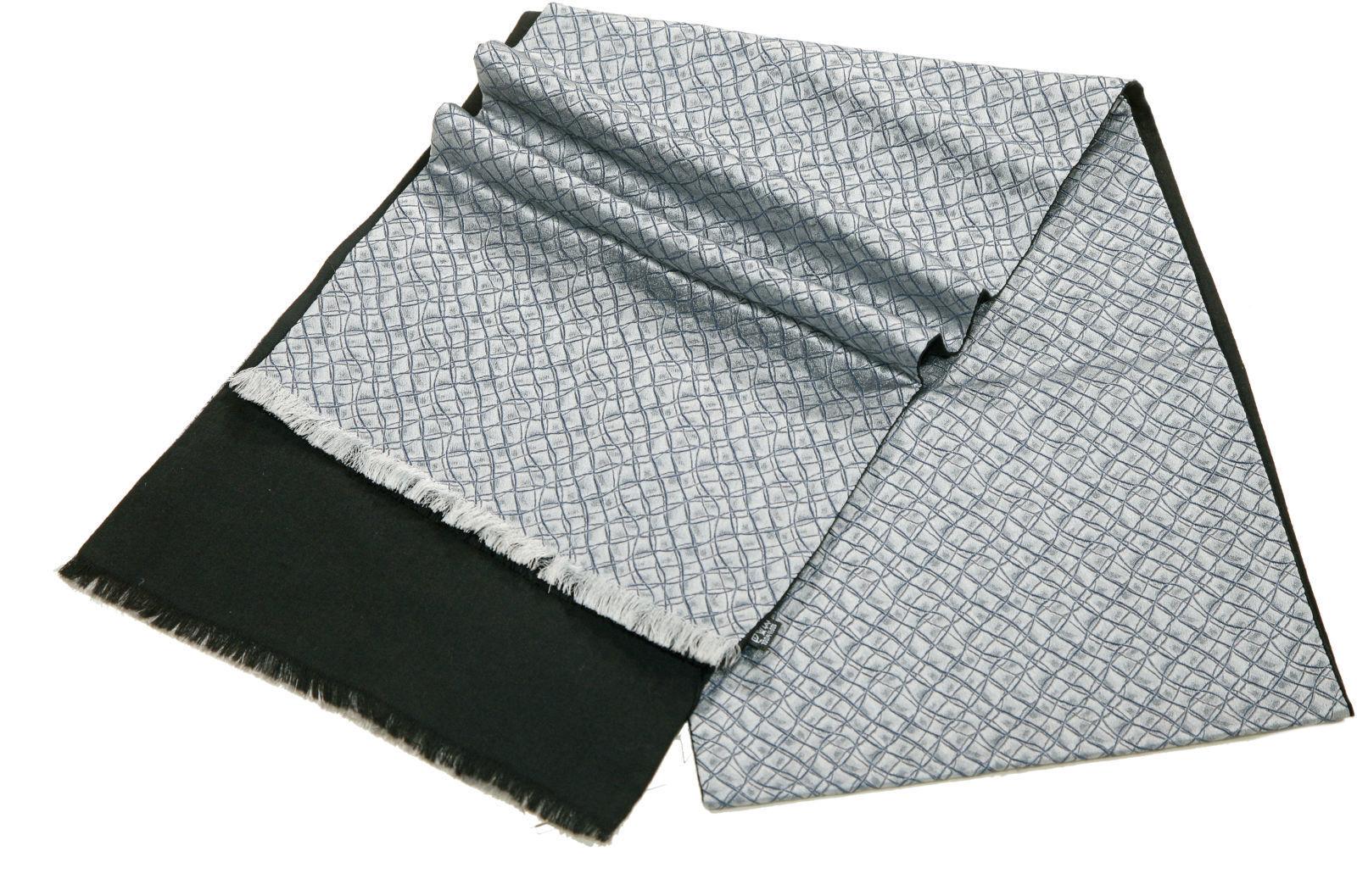Шарф мужской шелковый серый