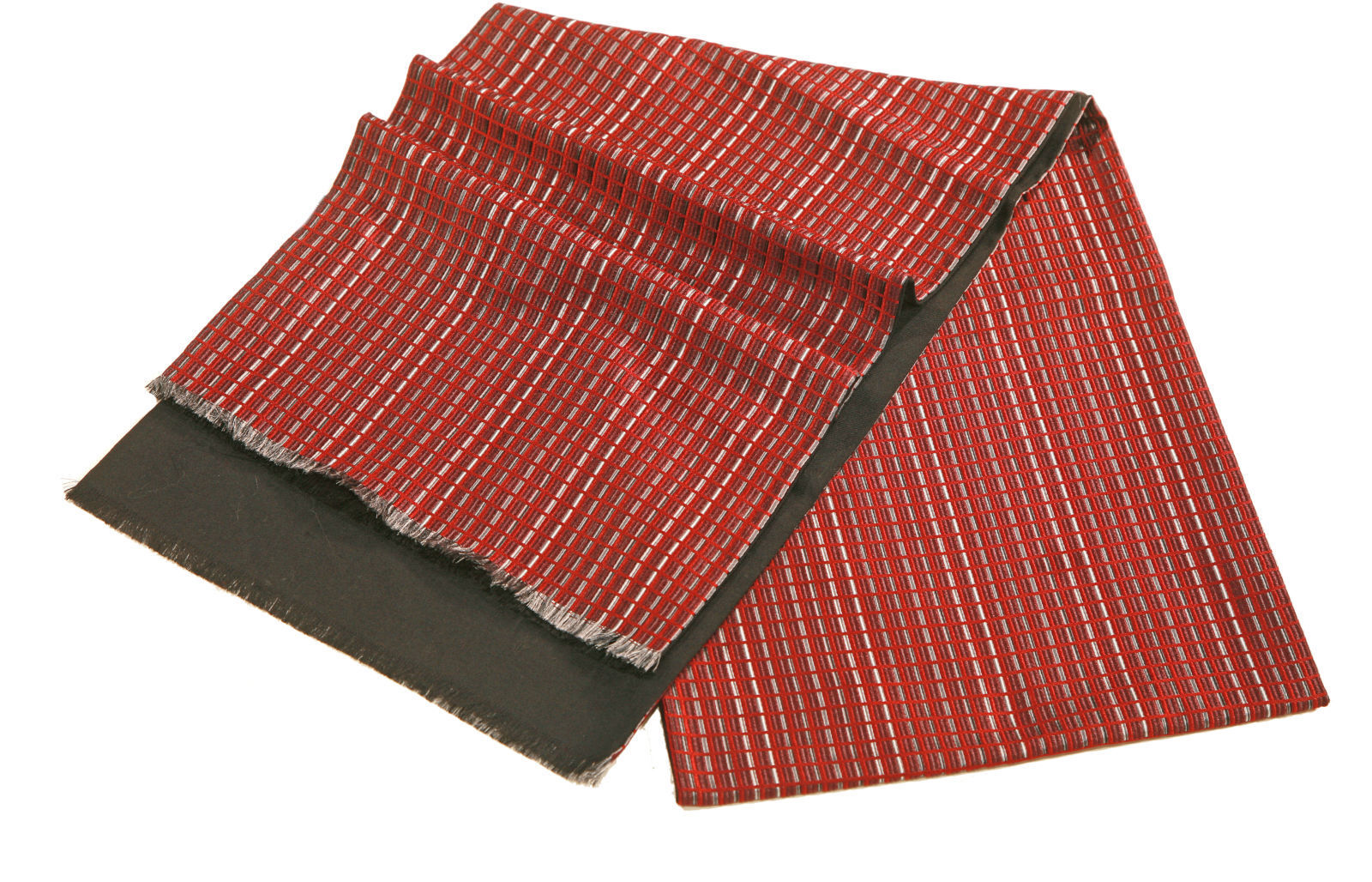 Шарф мужской шелковый бордовый