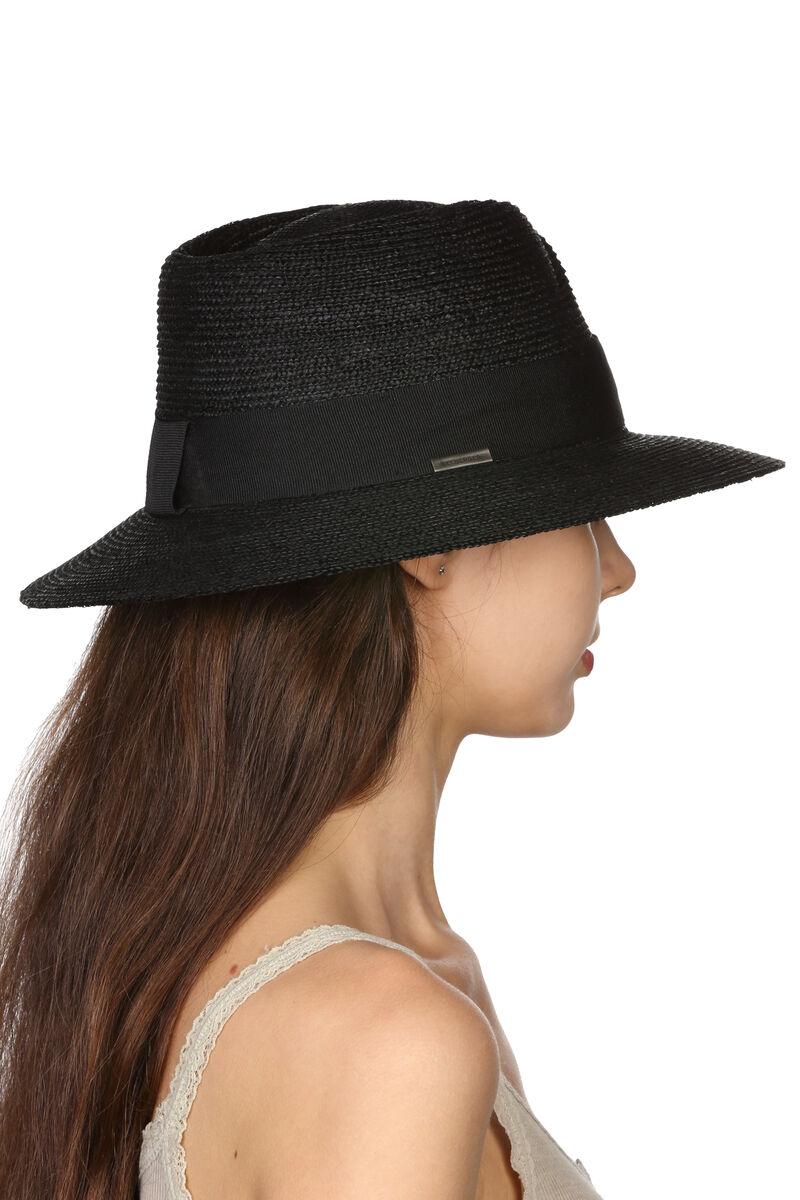 Шляпа соломенная в мужском стиле черная