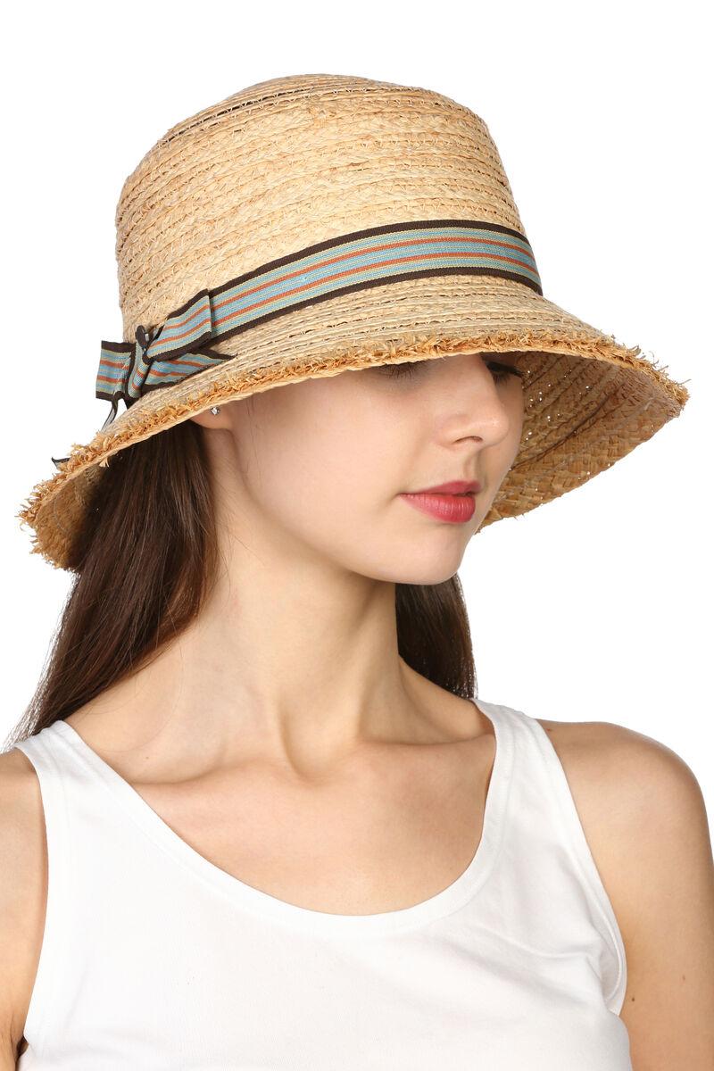 Шляпа из соломы с квадратной тульей