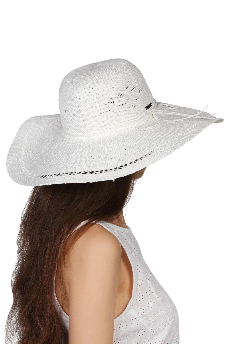 Шляпа белая с широкими полями