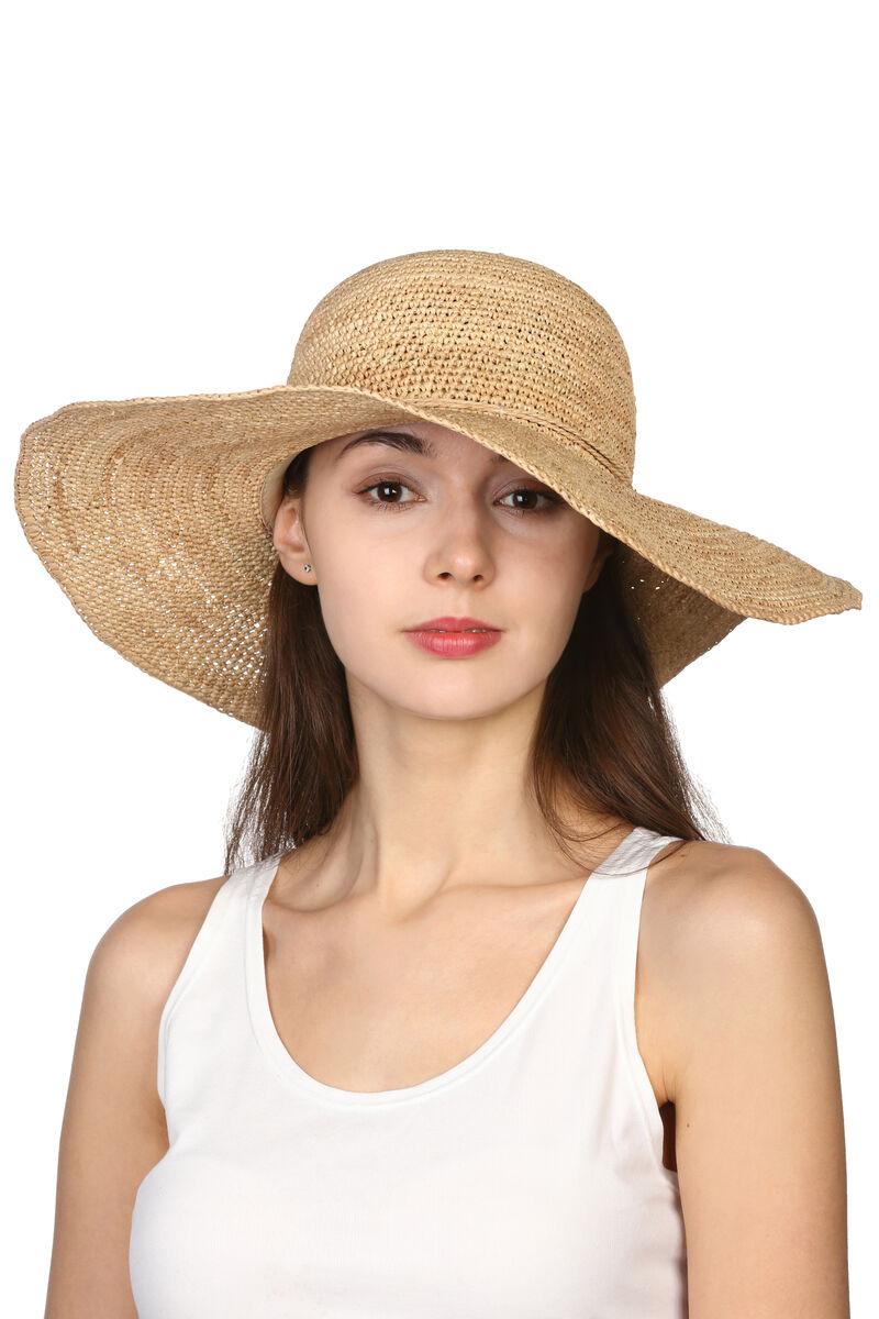 Шляпа с широкими полями из рафии