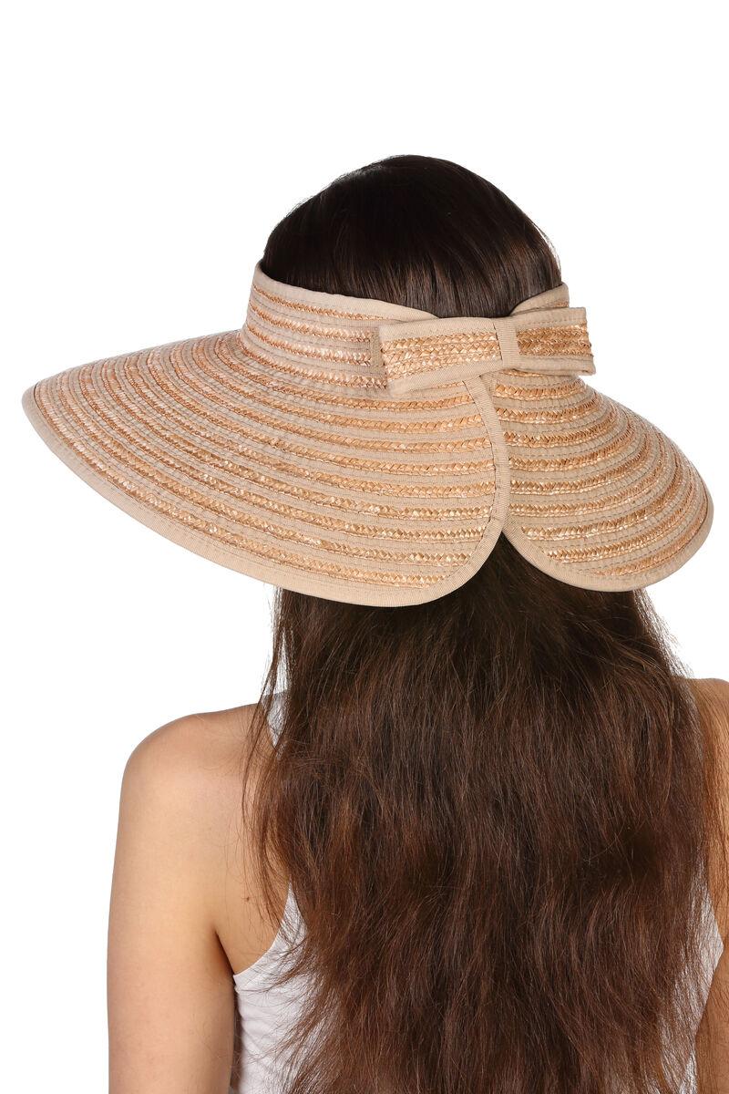 Шляпа без тульи из натуральной соломы