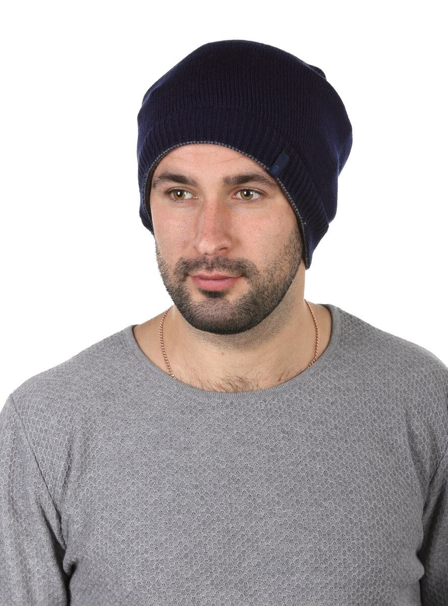 Двухсторонняя шапка-баф синяя