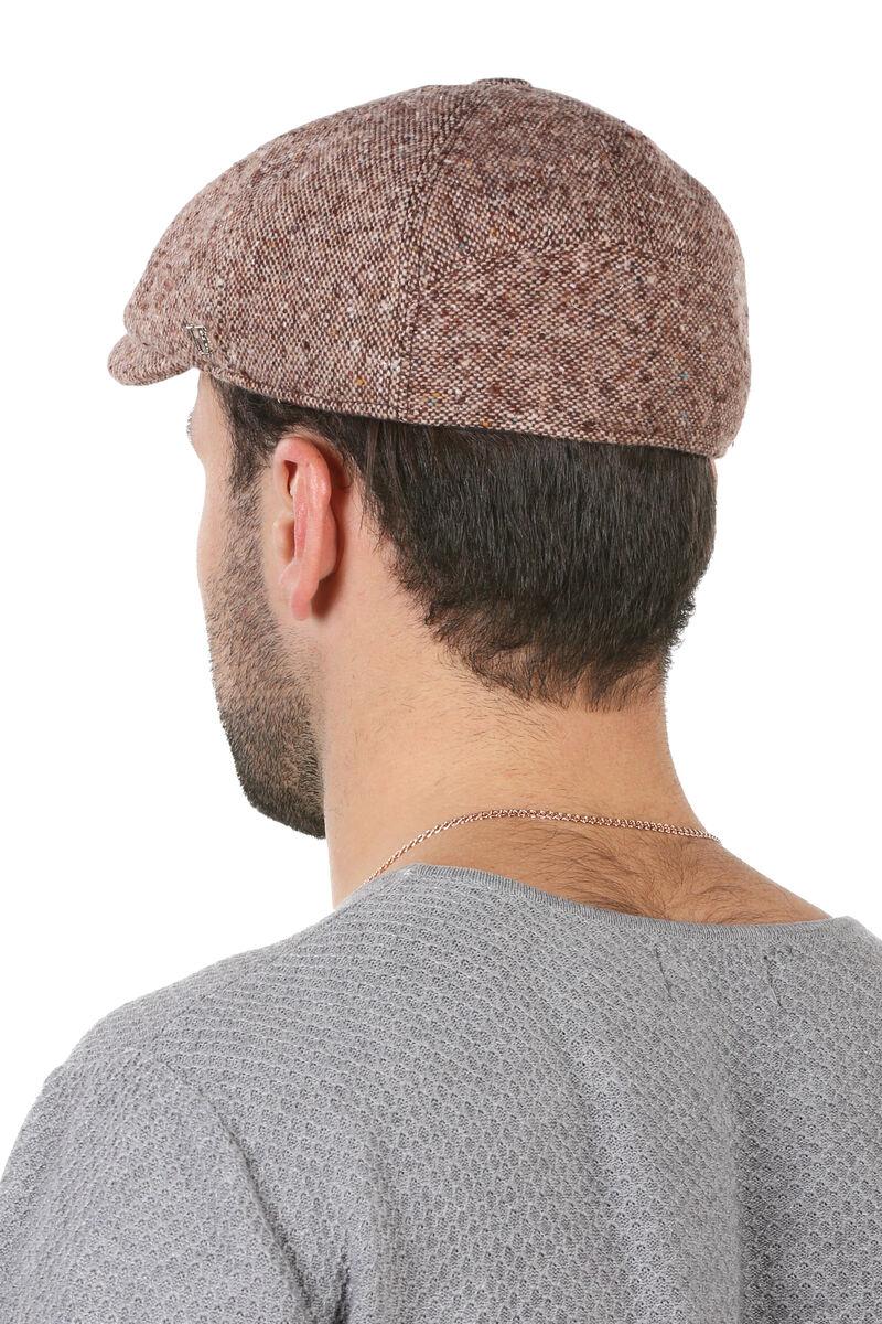 Кепка мужская восьмиклинка коричневая меланж