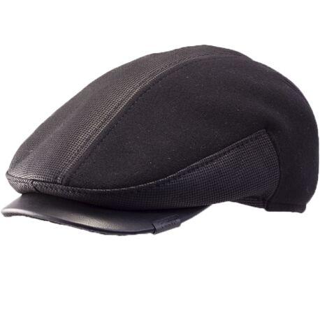 Кепка зимняя комбинированная черная