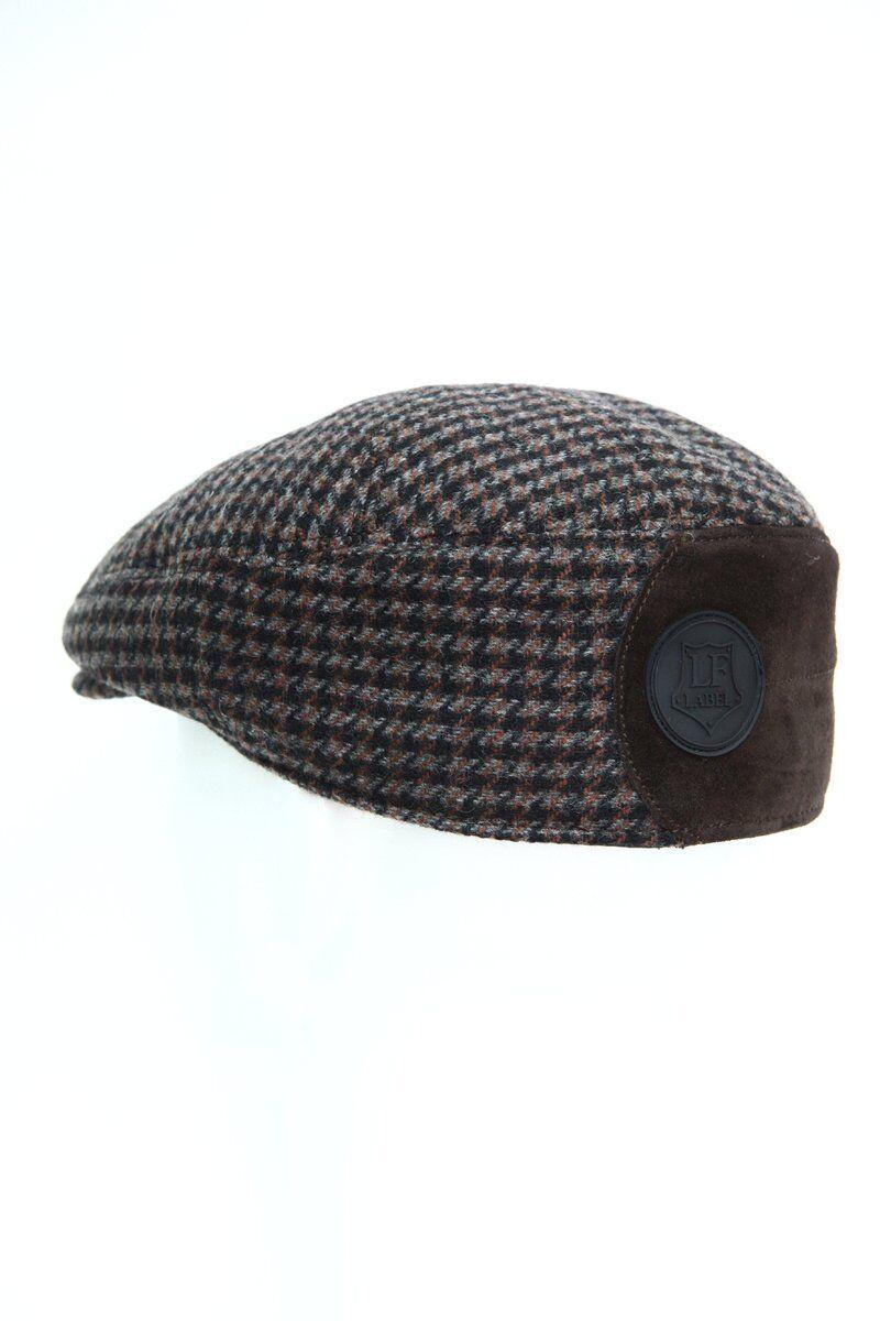 Кепка мужская комбинированная с замшей коричневая