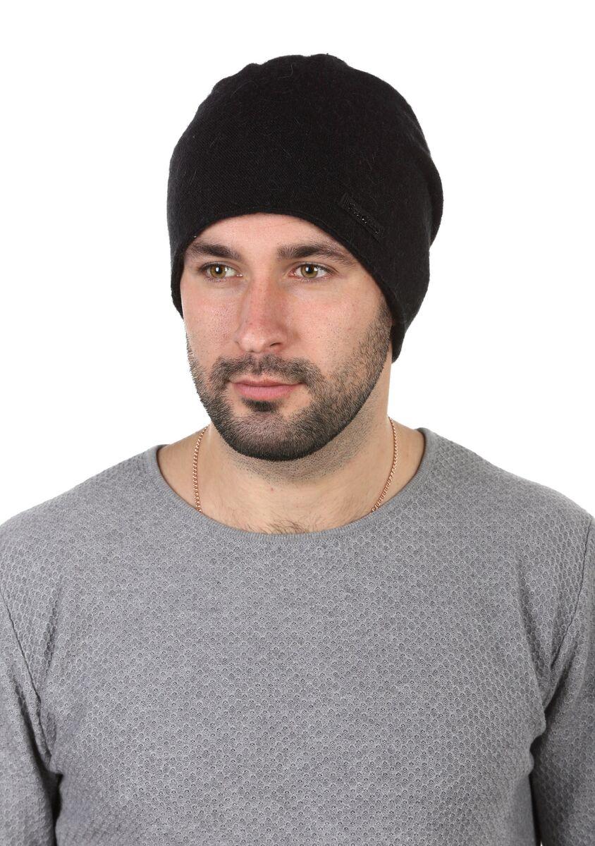 Шапка мужская шерстяная черная