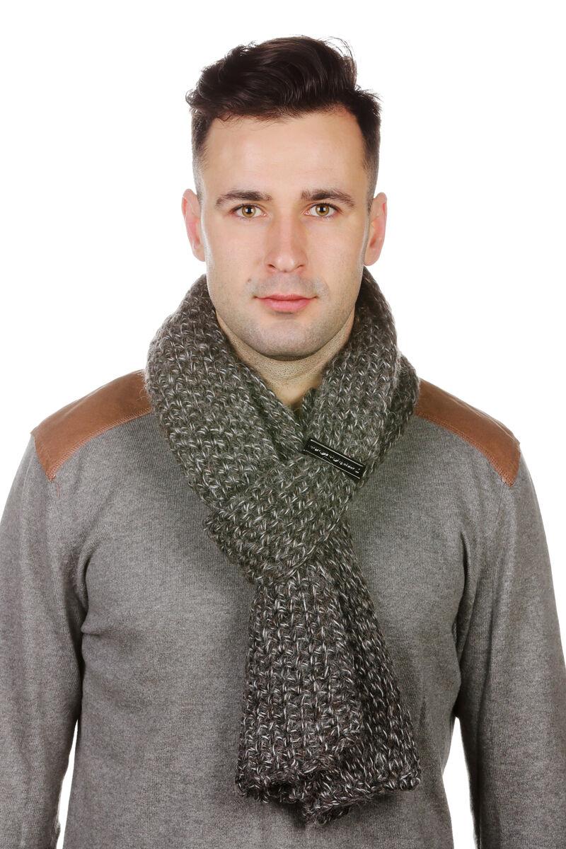 Шарф мужской трикотажный серый