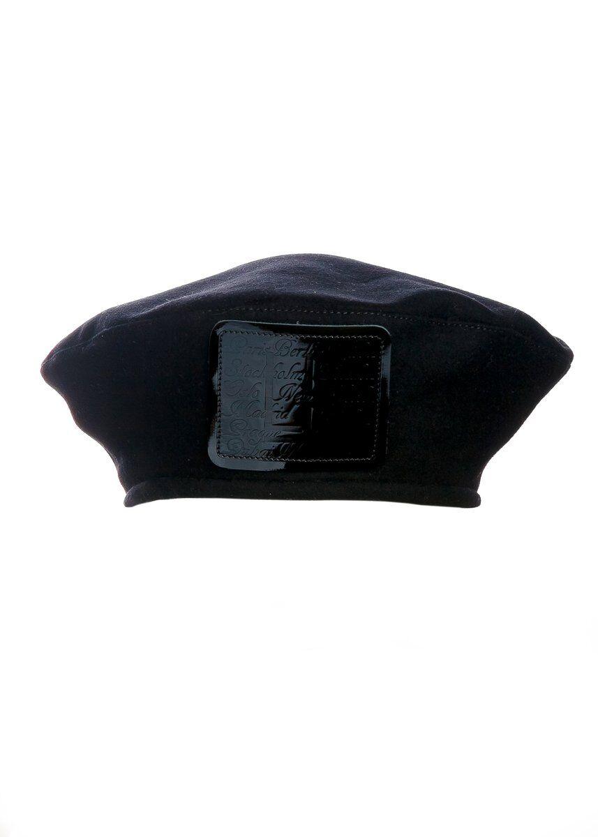 Берет из драпа черный