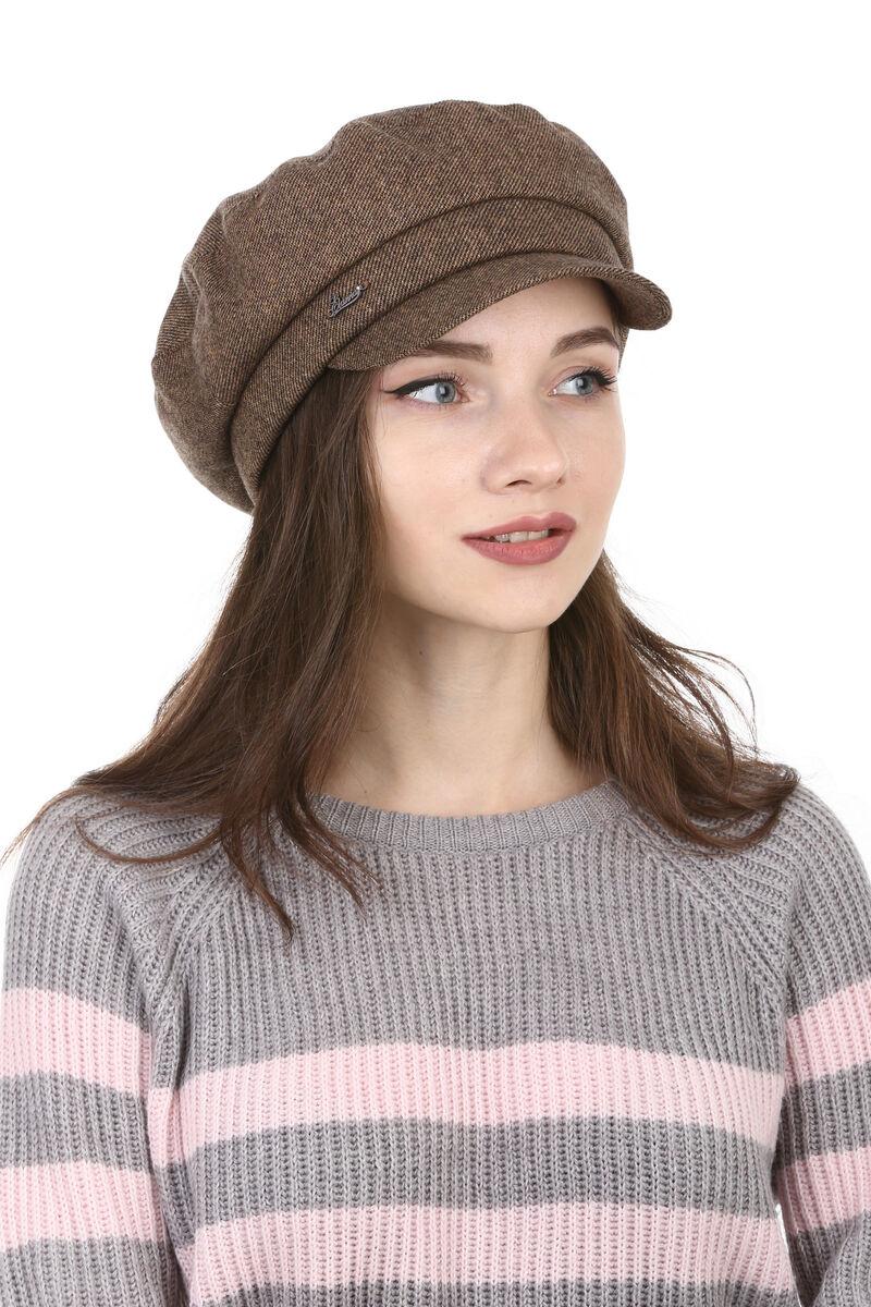Картуз женский из драпа коричневый