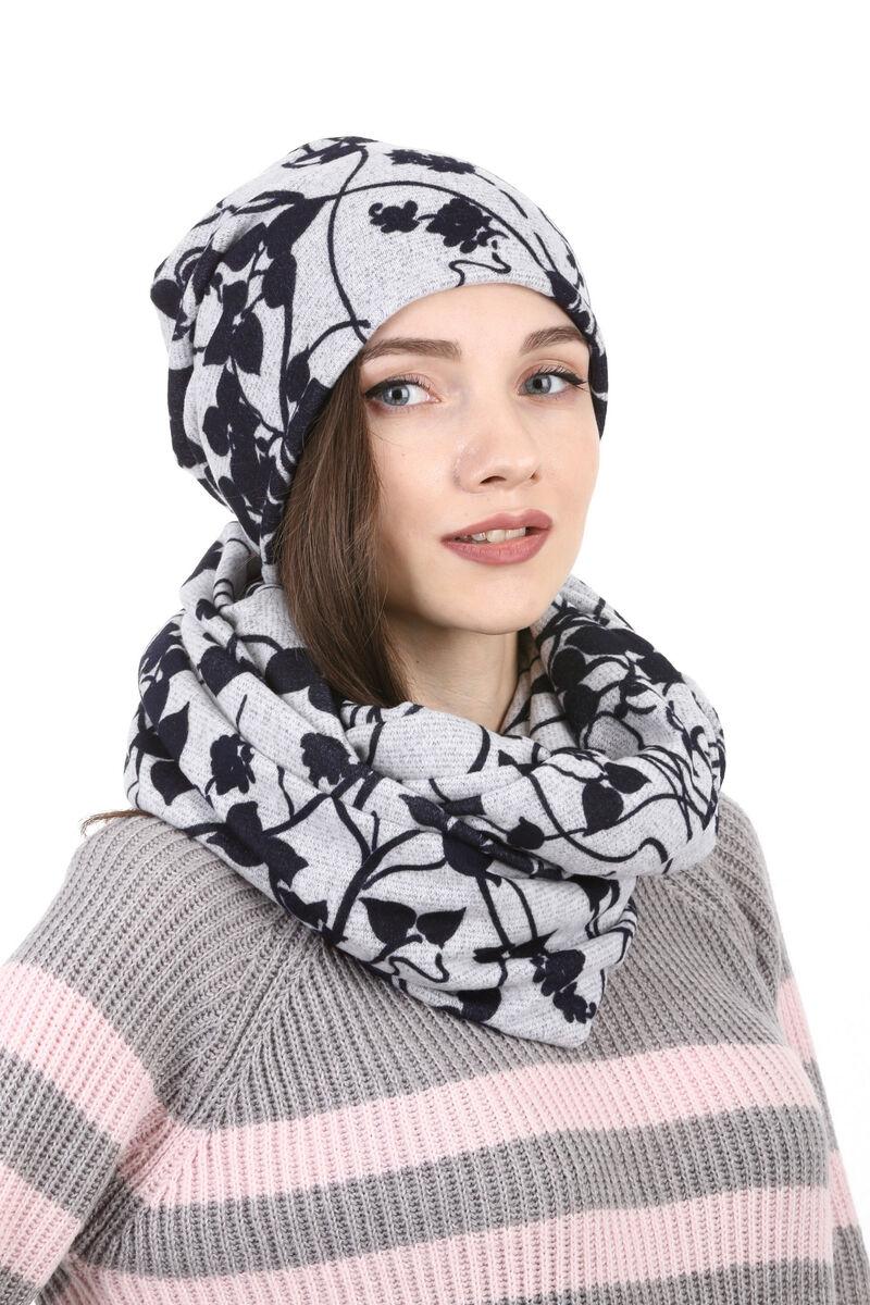 Комплект трикотажный серый с черным