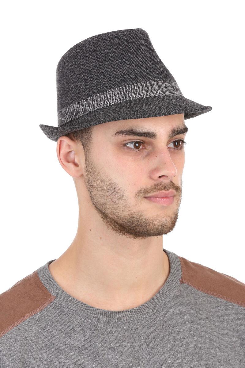 Шляпа мужская серая