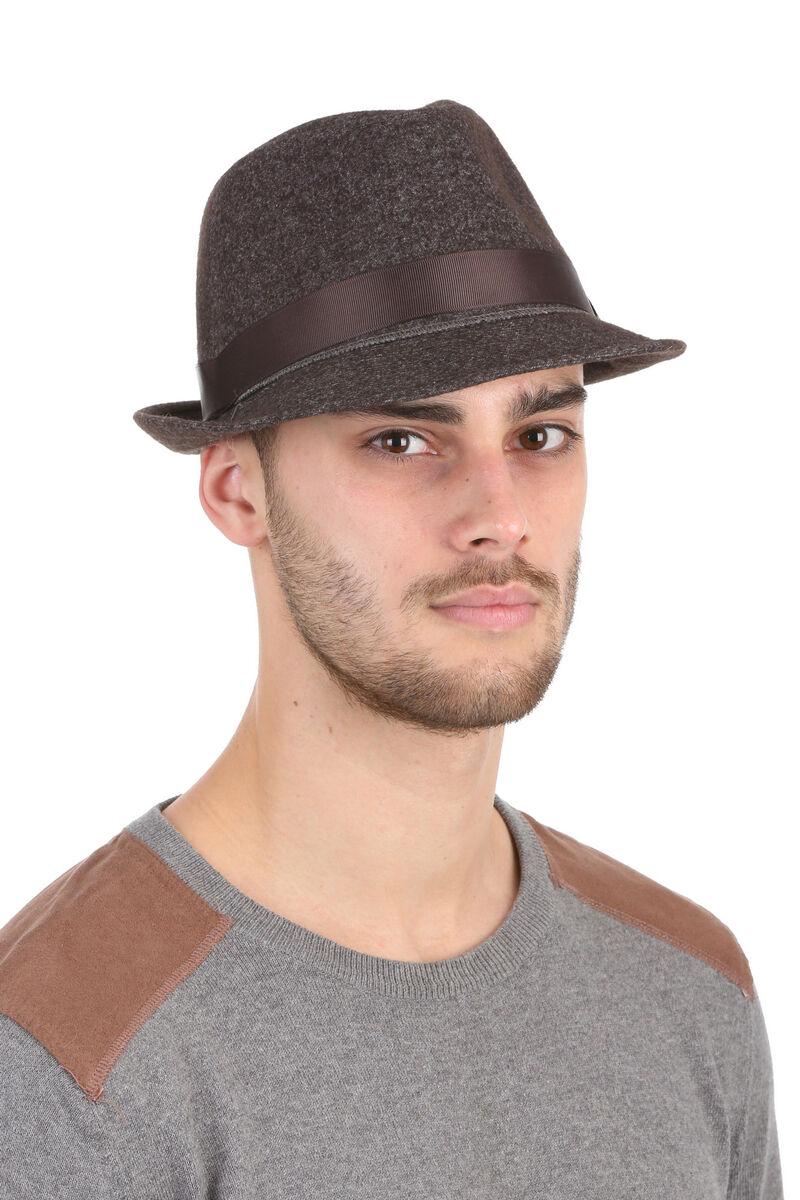 Шляпа мужская коричневая