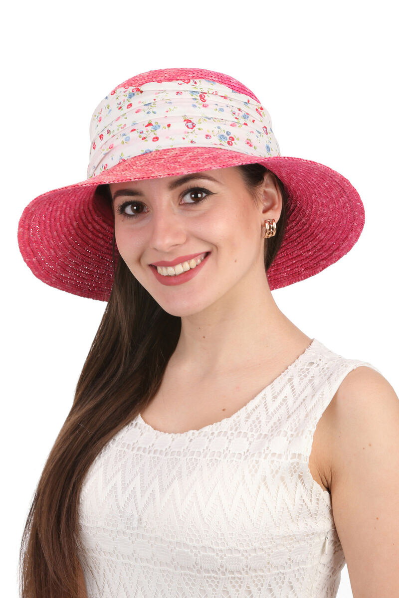 Шляпа соломенная с лентой