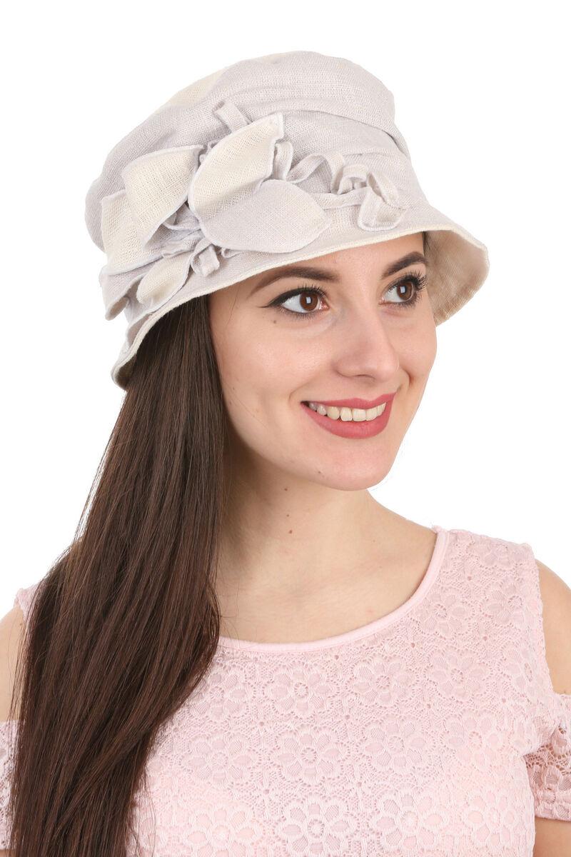 Шляпа тканевая дамская голубая