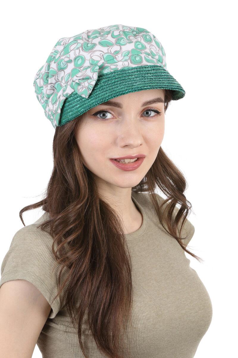 Кепка летняя из ткани зеленая