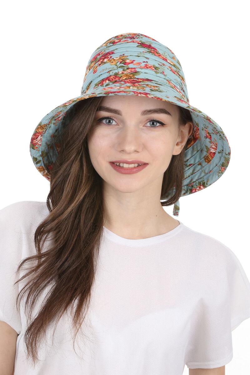 Шляпа тканевая цвета морской волны