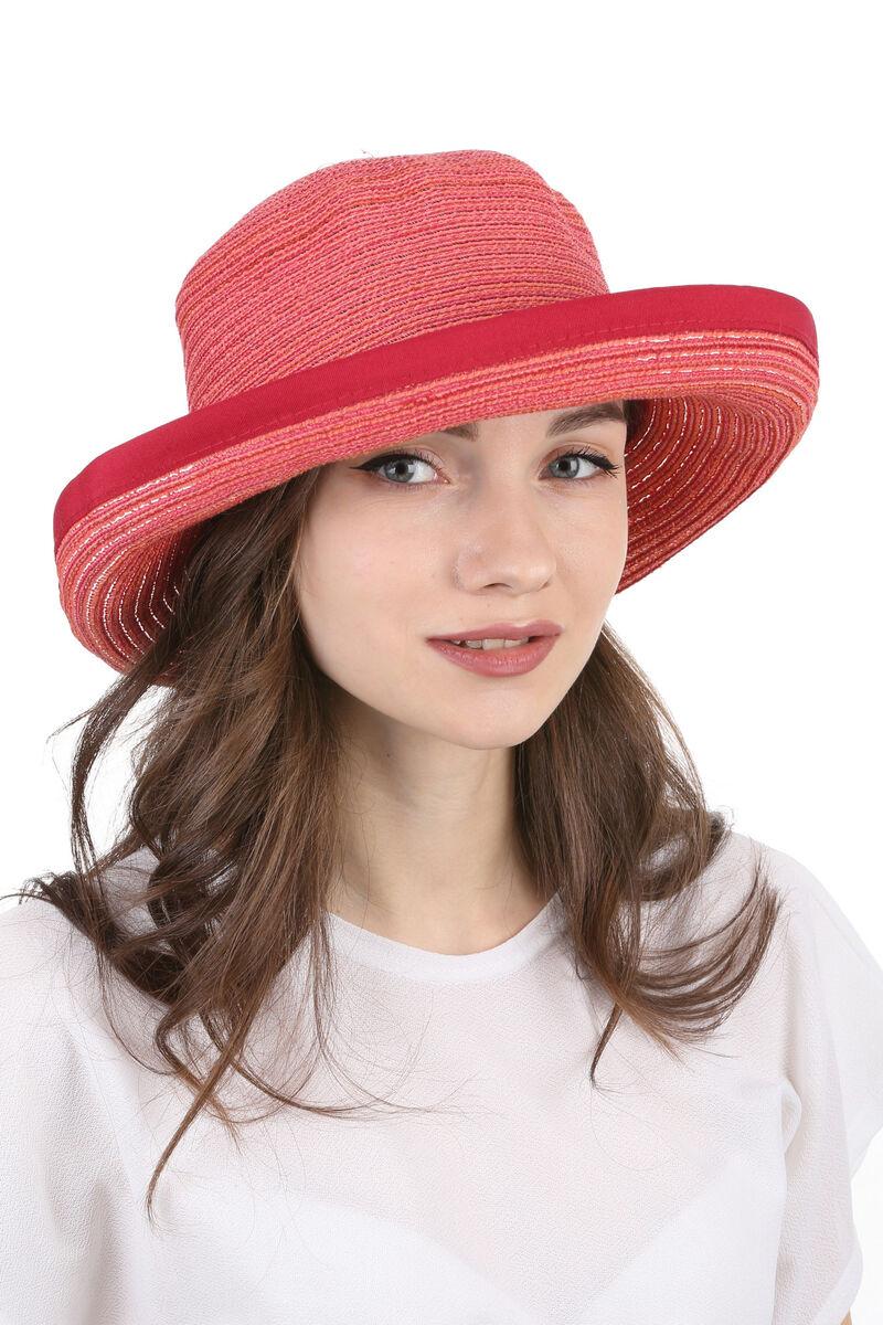 Легкая летняя шляпа красная