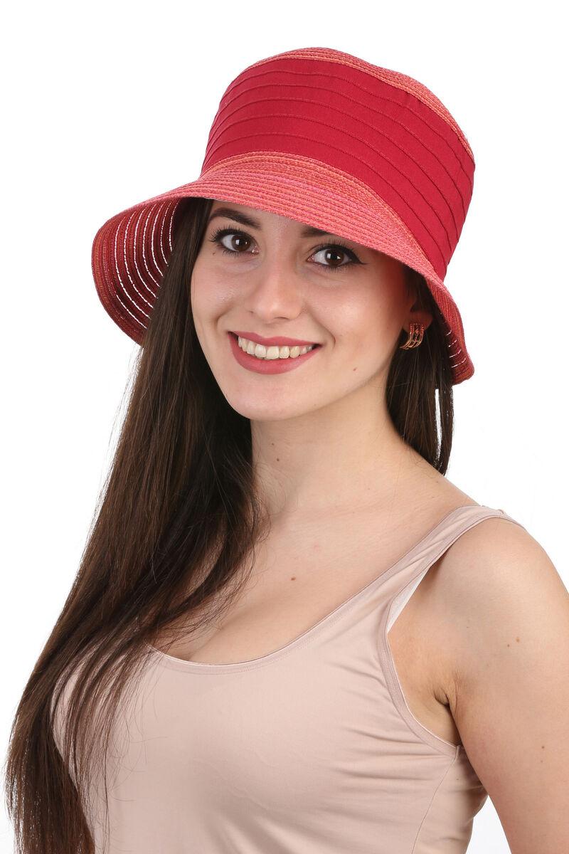 Панама женская красная