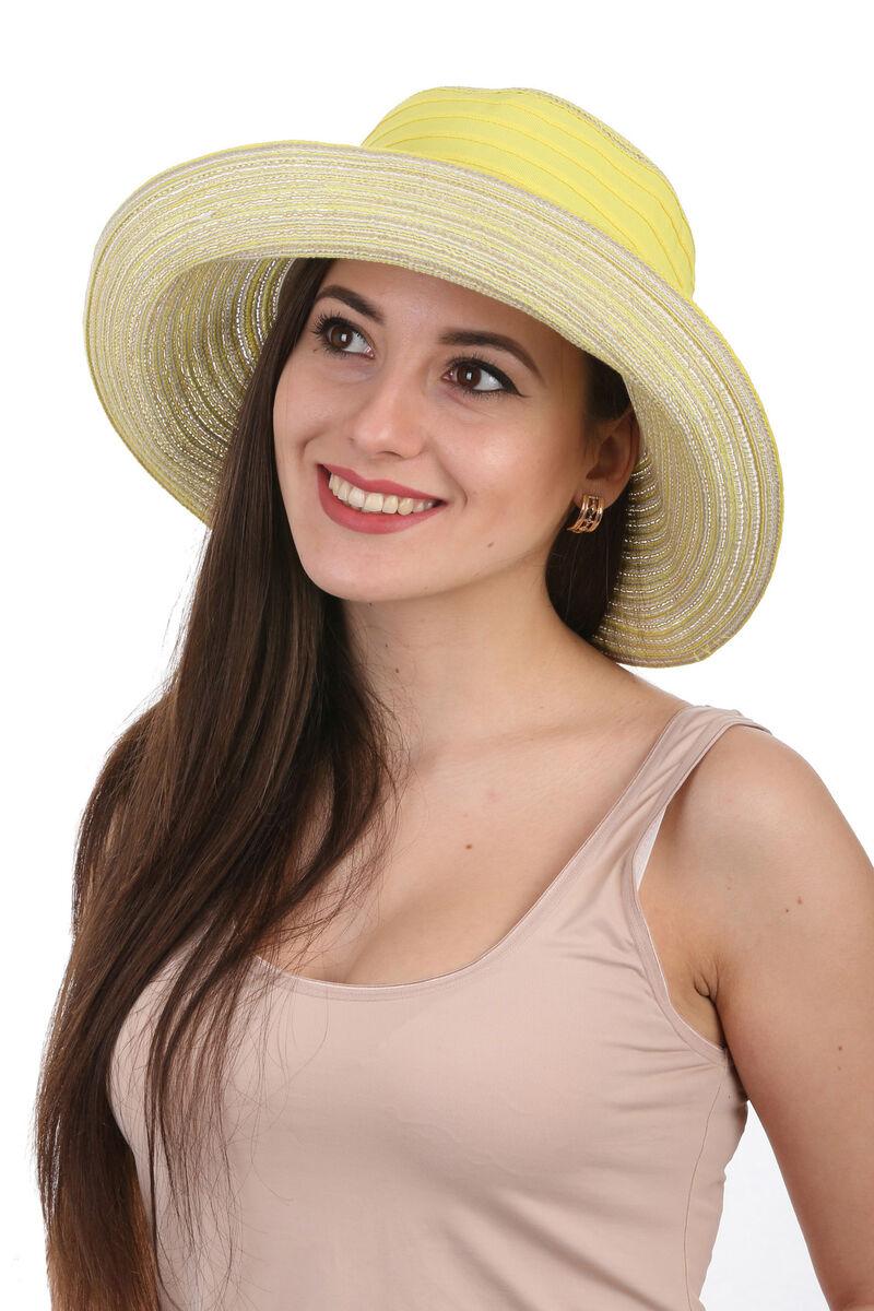 Элегантная летняя шляпа желтая