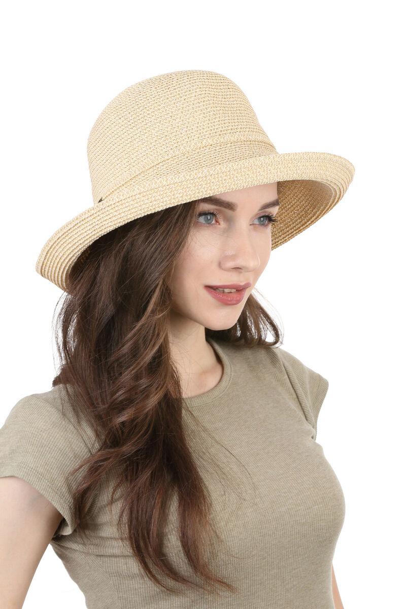 Шляпа летняя женская  светло-бежевая