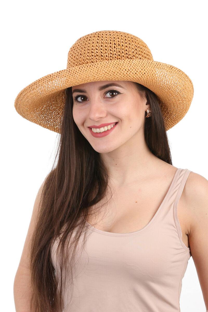 Шляпка плетеная бежевая