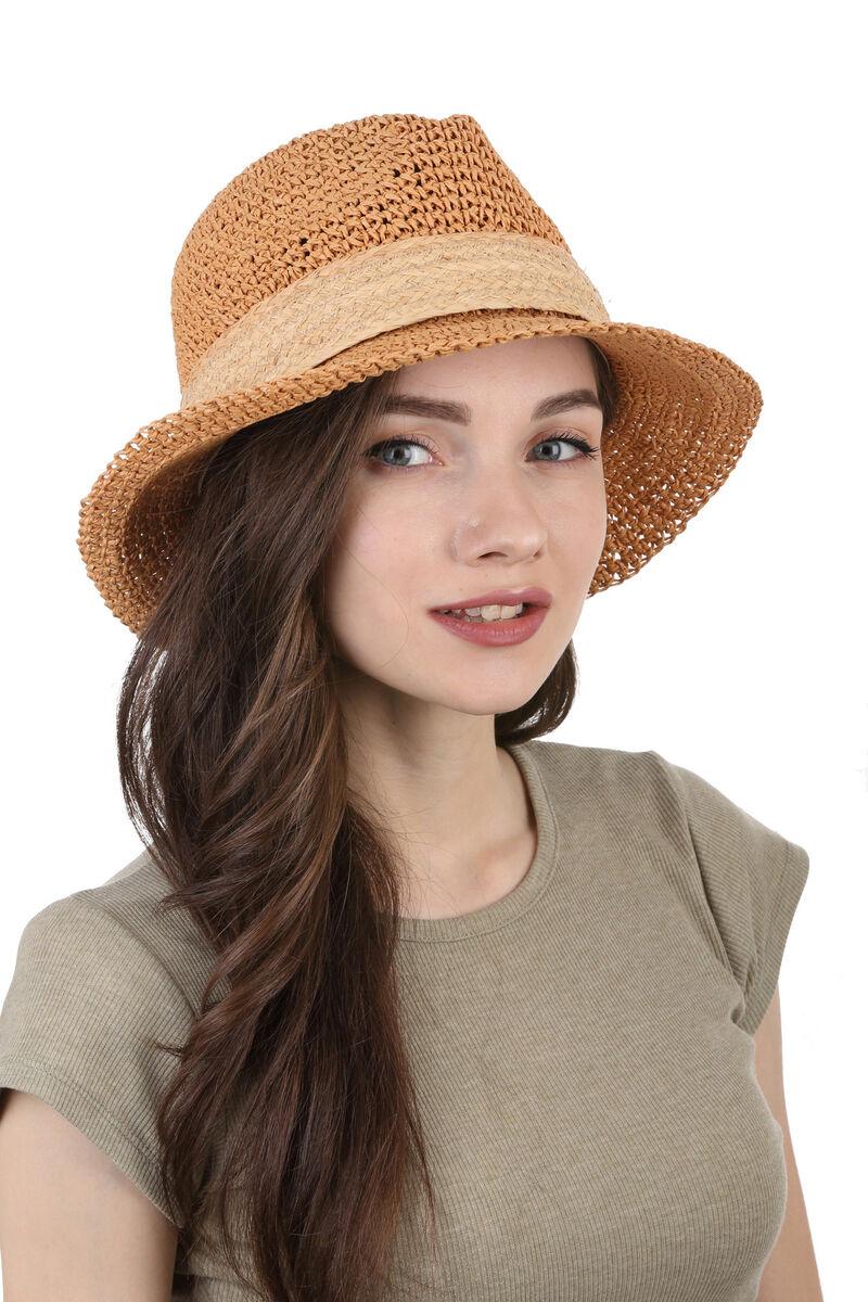Шляпа плетенная « трилби»