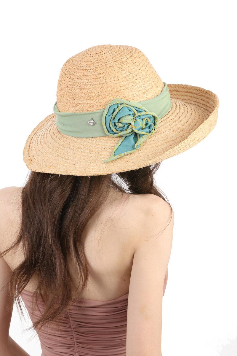 Шляпа соломенная с дизайнерским украшением