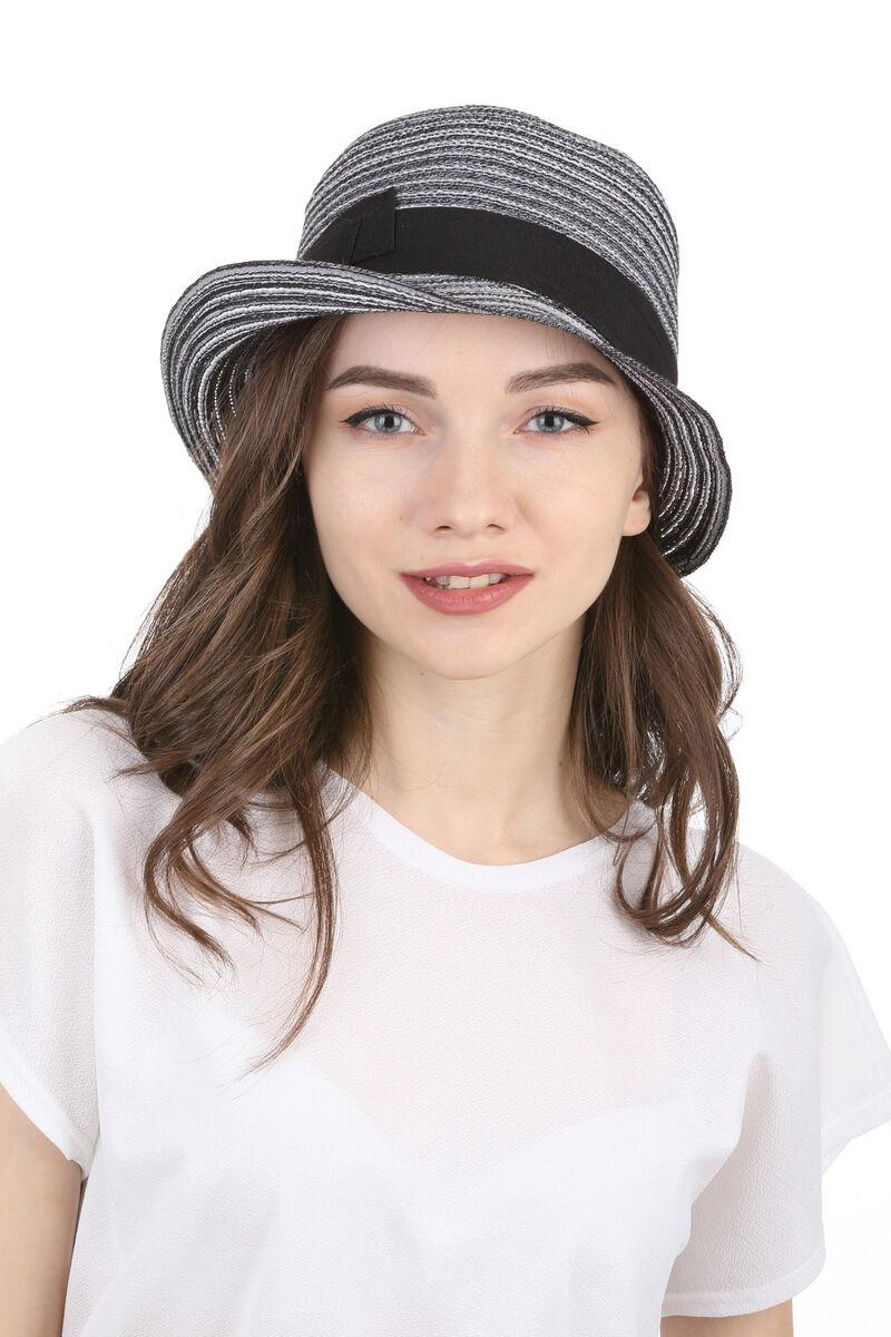 Шляпа асимметричная черно-белая