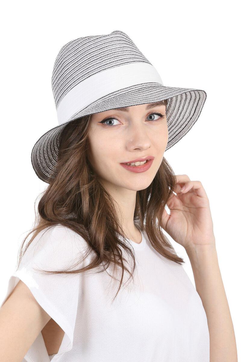 Шляпа федора черно-белая
