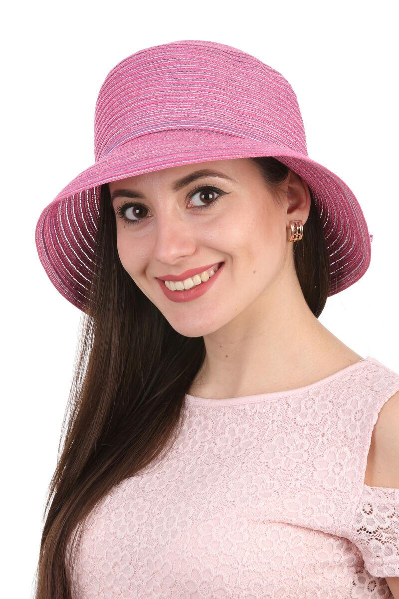 Женская панама розовая