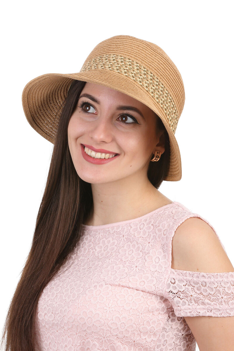 Шляпа женская бежевая