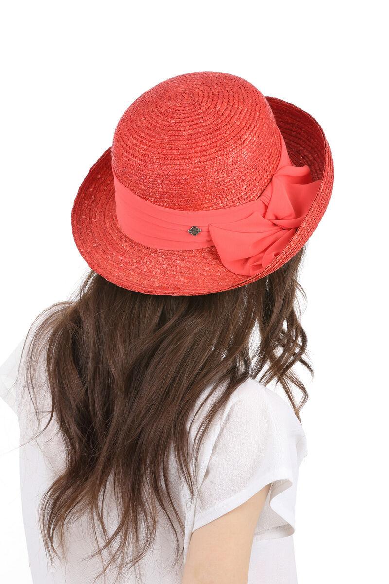 Шляпа из натуральной соломы женская с лентой
