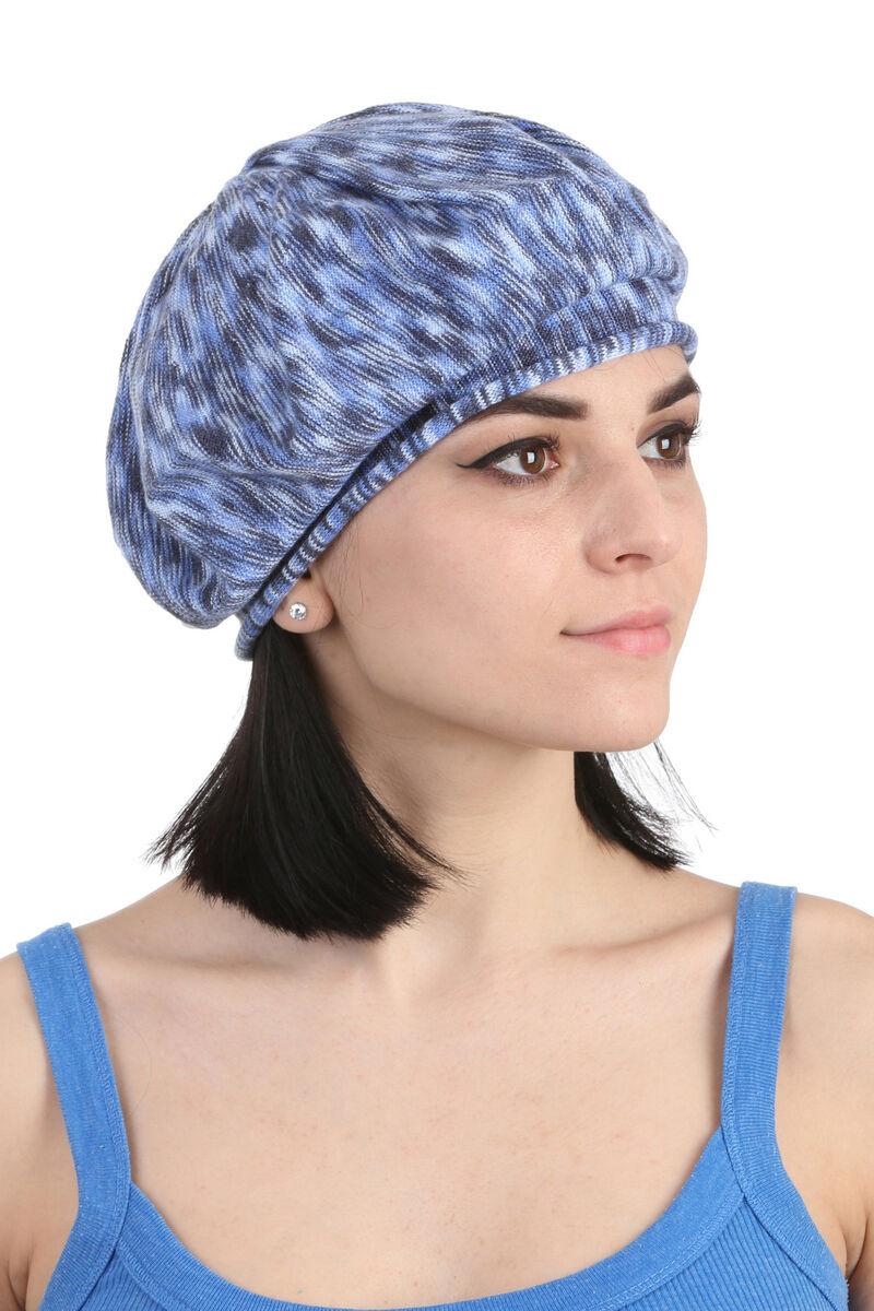 Берет летний  женский синий