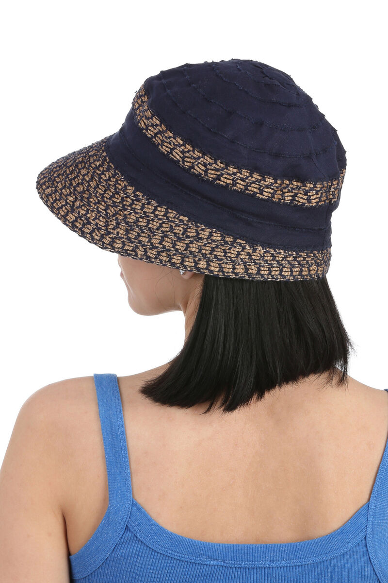 Шляпа летняя темно-синяя