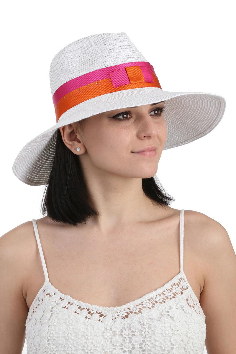 Шляпа федора белая