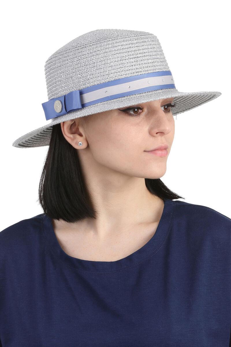 Шляпа канотье серебро