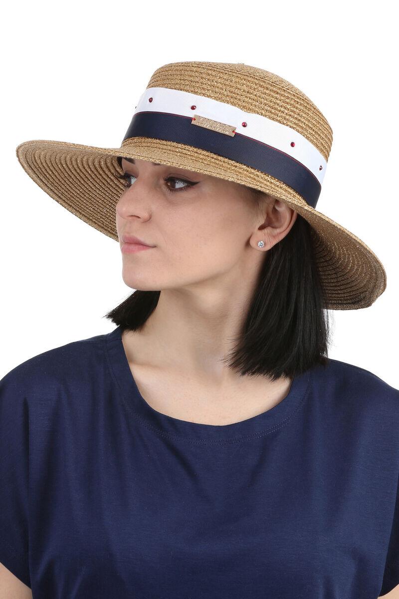 Шляпа канотье золото