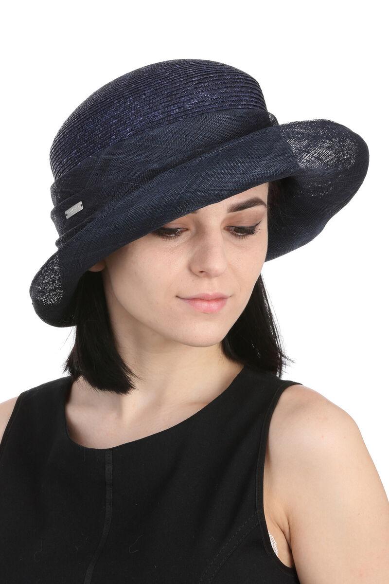 Шляпа темно-синяя с полями из сизаля
