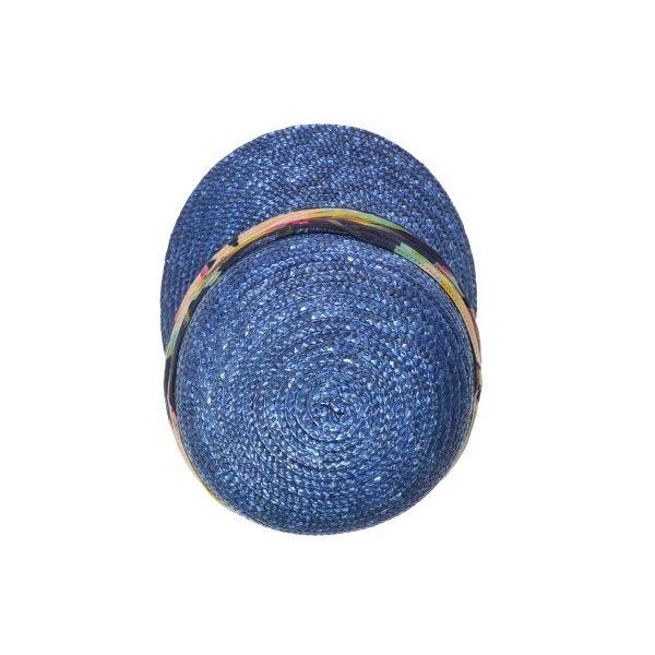 Кепка синяя из соломы