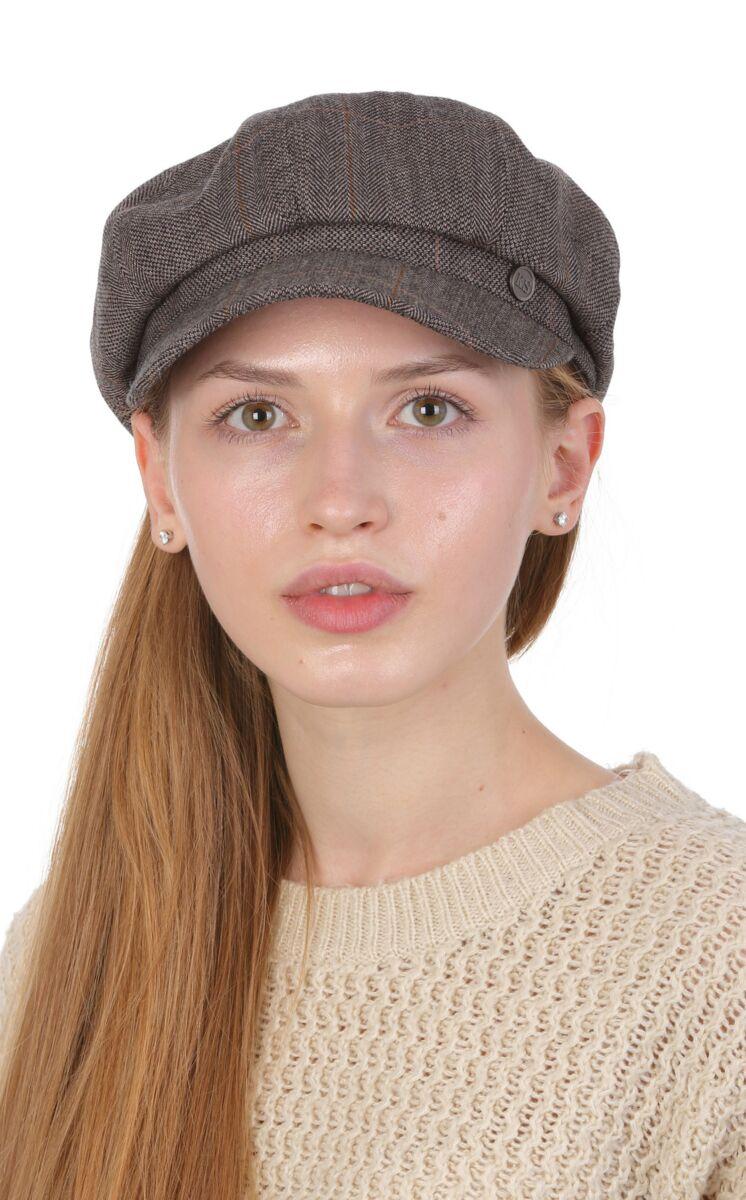 Кепка женская Гаврош коричневая