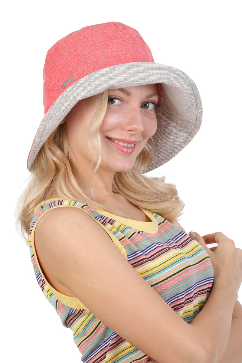 Панама летняя женская  розовая