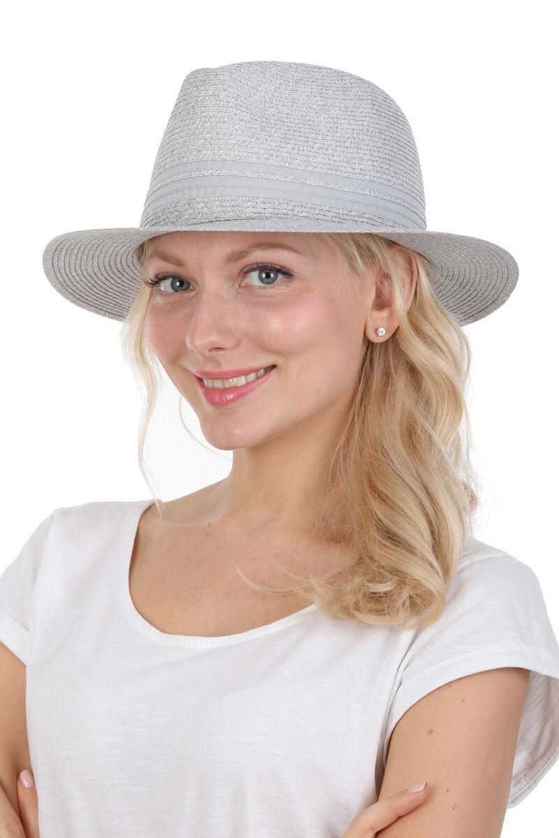 Шляпа федора светло-серая