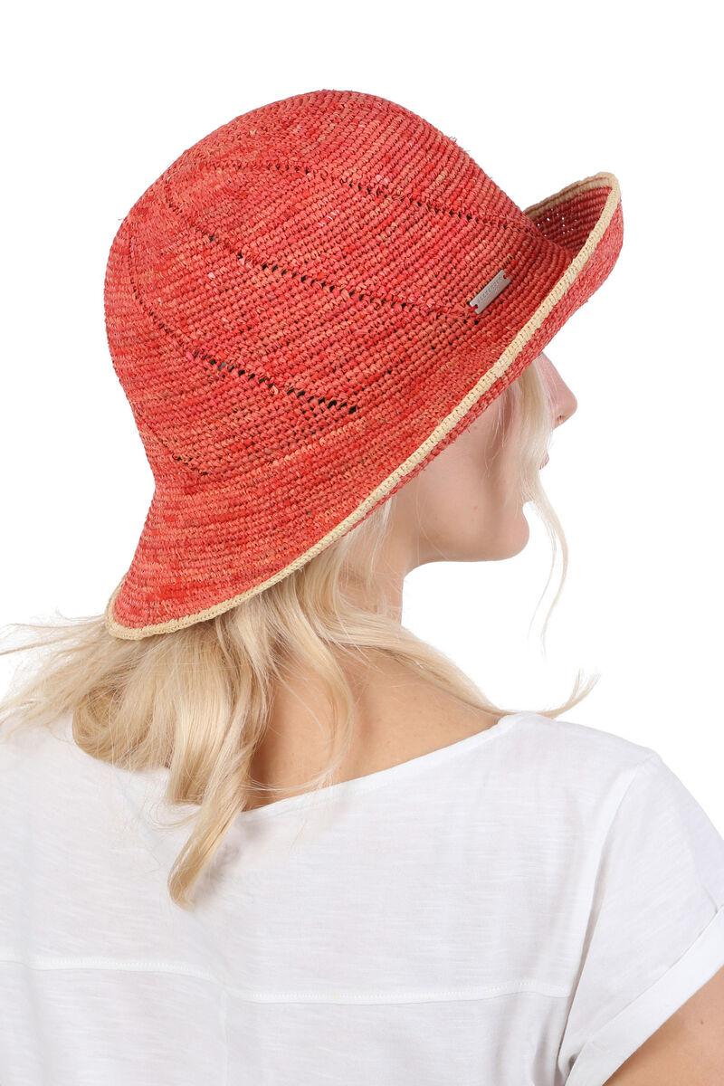 Шляпа соломенная мягкая красная