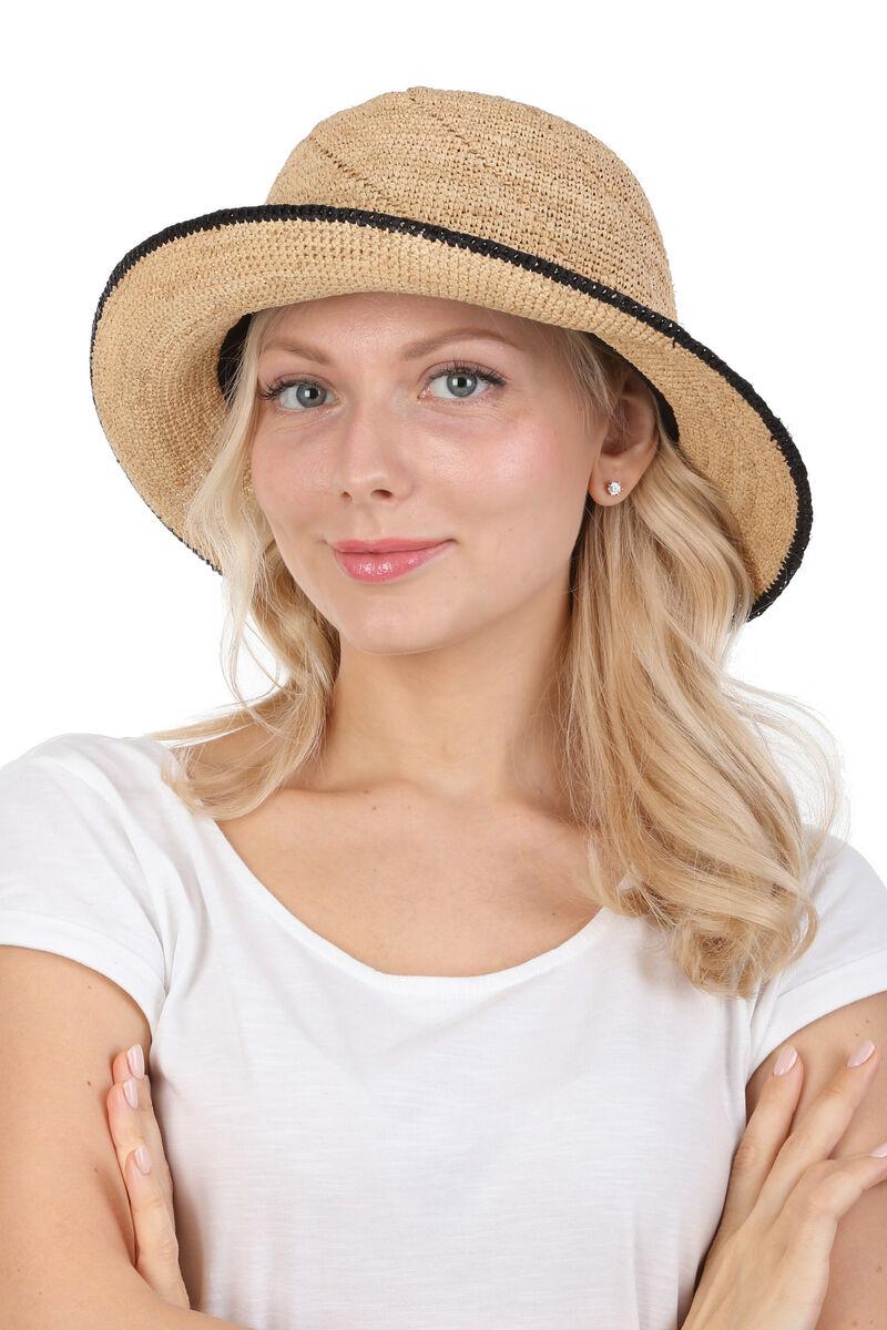 Шляпа мягкая из соломы бежевая