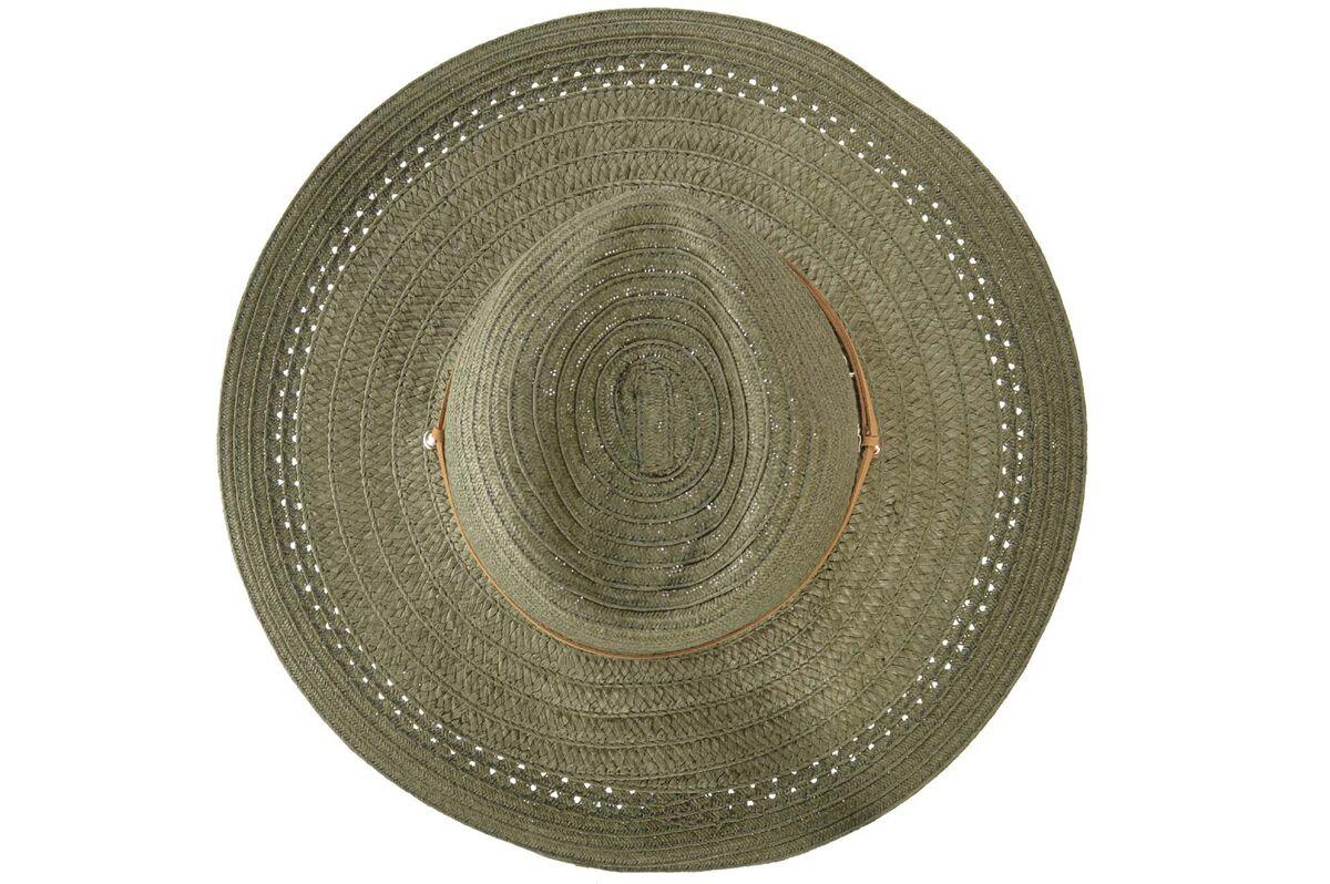 Шляпа ковбойка зеленая со шнурком