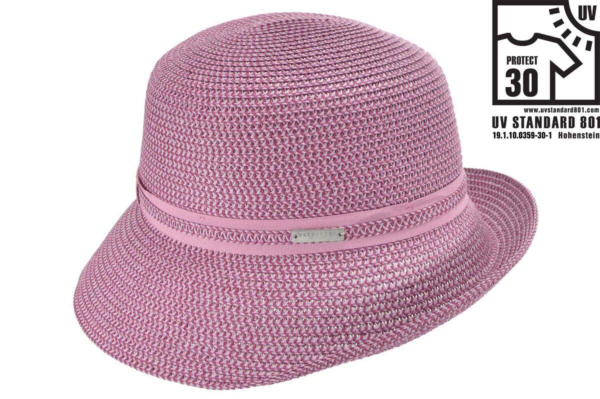 Шляпка лиловая меланж
